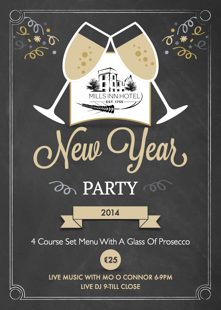 mills inn new years eve party 2014