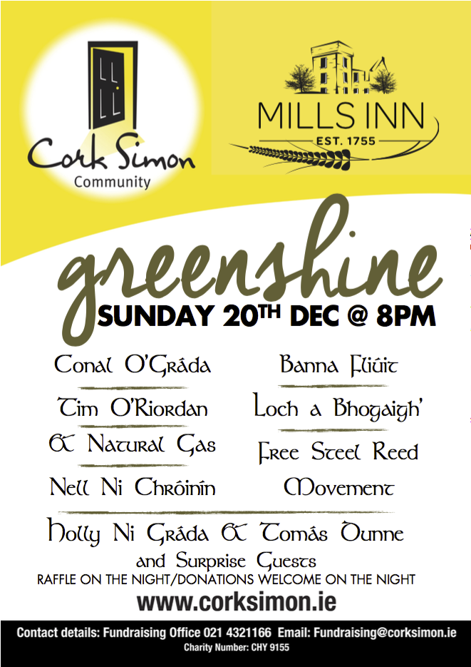 Cork Simon Music Event At The Mills Inn Dec 2015