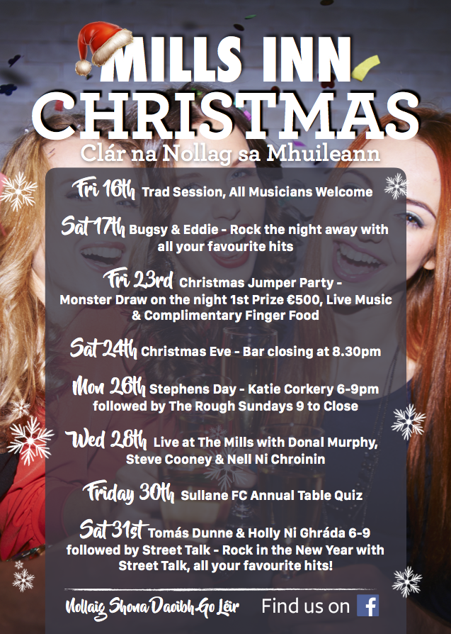 Mills Inn Christmas Events 2016