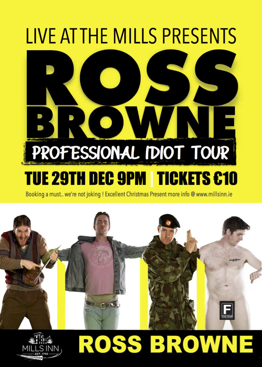 Ross Browne LIVE AT THE MILLS Dec 2015