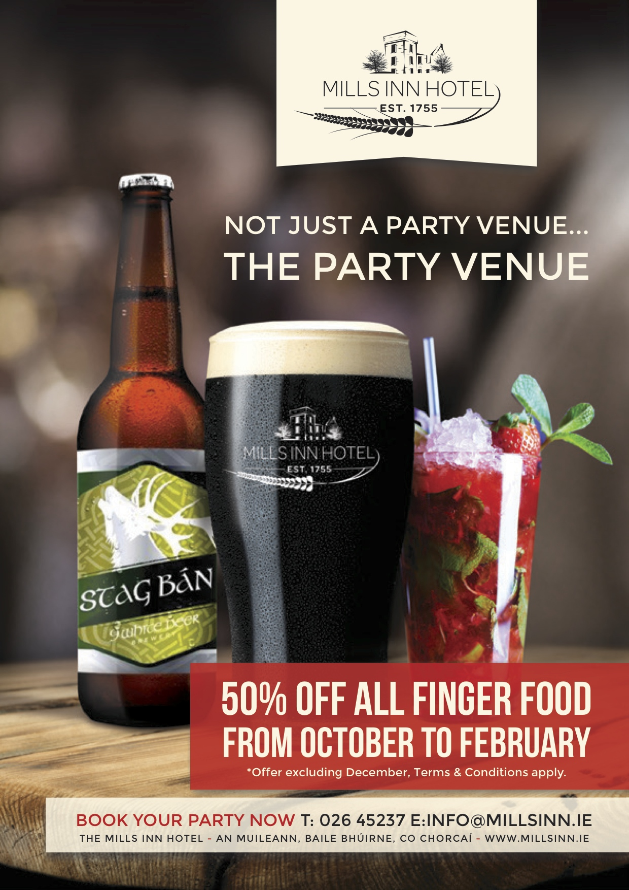 The MIlls Inn Hotel | Ballyvourney | Macroom | Co Cork | Ireland | Party