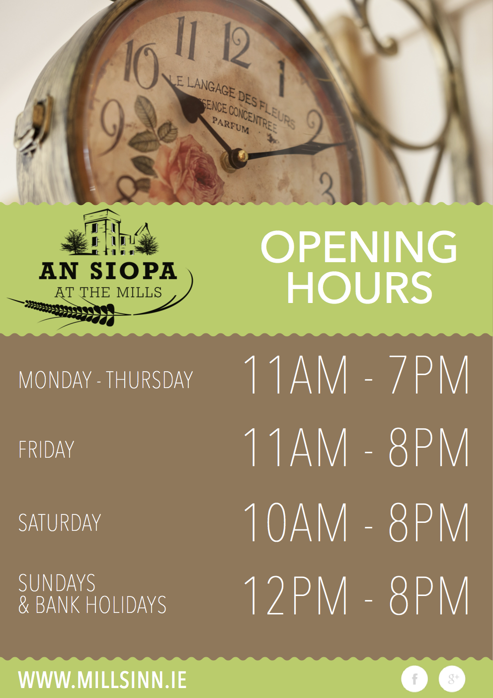 An Siopa At The Mills Opening Hours