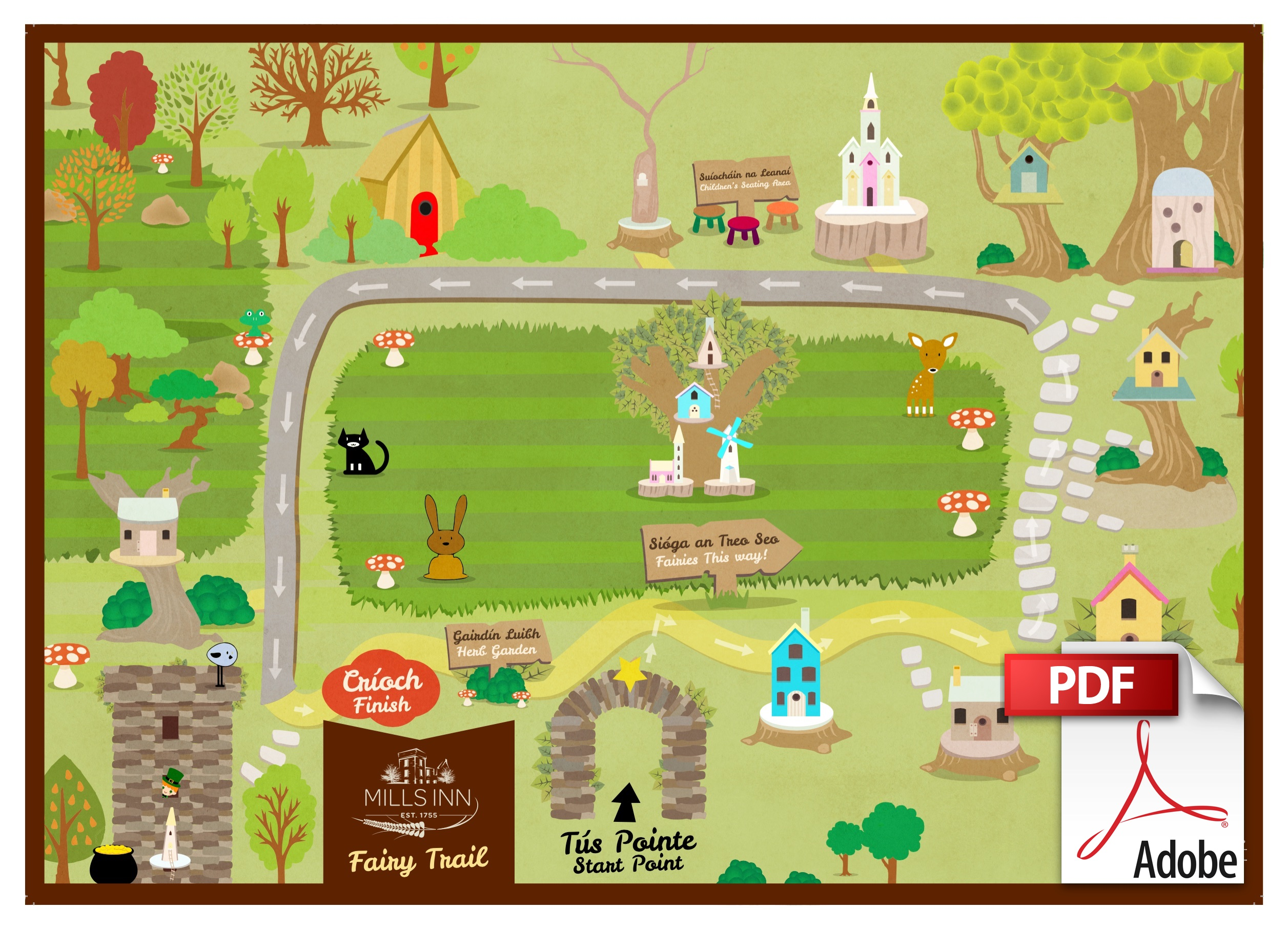 Mills Inn Fairy Village Map